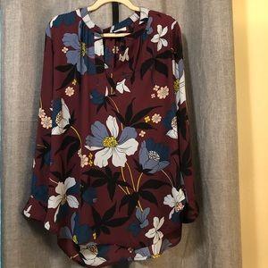 Loft Tunic Long Sleeve Blouse - Size Large